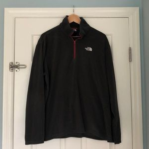 North Face Men's fleece large gray pullover